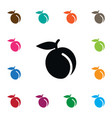 isolated juicy icon apricot element can be vector image