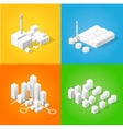 Isometric city of industry vector image vector image