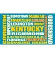 Kentucky state cities list vector image