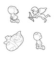 kids icon set outline style vector image vector image