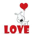 Loving dog vector image vector image