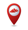 Map pointer with pyramids icon vector image