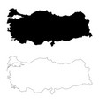 map turkey isolated black on vector image