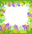 natural banner with stylized green leaves vector image