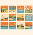 Nature landscape icons set of symbols vector image vector image