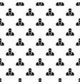 ninja in black mask pattern vector image vector image
