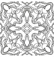 ornamental background for coloring book in black vector image vector image