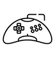 plastic game joystick icon outline style vector image vector image