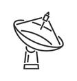 Radar telescope line icon vector image vector image