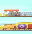 railway horizontal banners vector image vector image