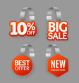 realistic detailed 3d wobbler promotion sale vector image