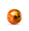 realistic glossy copper sphere with glares and vector image vector image