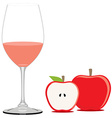 Red apple juice vector image vector image