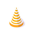 road cone street sign to forbid traffic caution vector image vector image