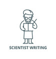 scientist writing line icon linear concept vector image