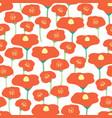 seamless background poppy flower field vector image
