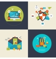 SEO and mobile marketing social network security vector image vector image