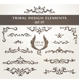 Set of design elements in tribal style Collection vector image vector image