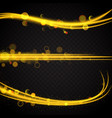set of glowing neon motion trails vector image