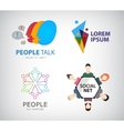 social net logo people connection logo vector image vector image