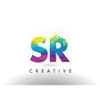 sr s r colorful letter origami triangles design