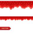 Strawberry Jam Drips Seamless Border vector image vector image