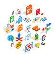 technology guide icons set isometric style vector image vector image