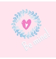 Valentines card with hand drawn hearts vector image vector image