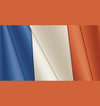 vintage flag france close-up background vector image