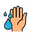 washing hands icon sign wash hands symbol vector image vector image