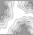 white paper waves background vector image