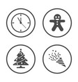 winter season and christmas new year icons set vector image vector image