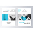 Blue annual Report Brochure vector image