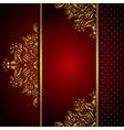 Royal Golden Frame Menu card vector image