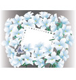 abstract blue floral greeting card - holiday vector image