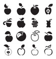 apple icons on a white background vector image vector image