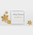 background shiny snowflakes with frame vector image vector image