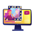 beauty blogger video review vector image