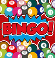 Bingo design vector image vector image
