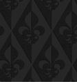 Black textured plastic Fleur-de-lis half and half vector image vector image