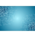Blue tech squares texture background vector image vector image
