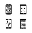 broken smartphone phone simple related icons vector image