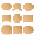 brown cardboard labels badges vector image vector image