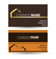 business card real estate sales vector image