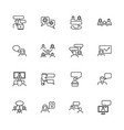 business communication - flat icons vector image vector image