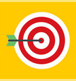 business red target icon flat style vector image vector image