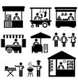 business stall store booth market marketplace vector image