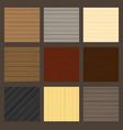 cartoon wood texture set vector image