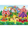 Children having fun in the circus vector image vector image