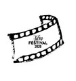 cinema festival poster flyer background abstract vector image